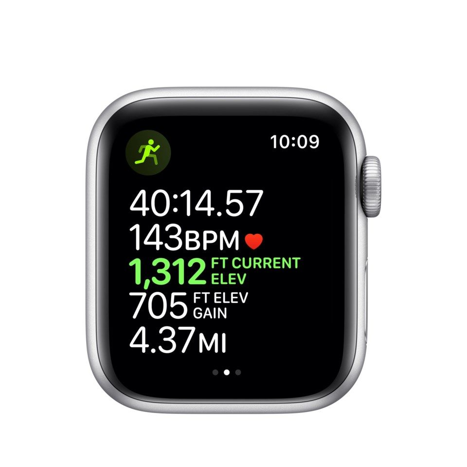 Apple Watch Series 5 (GPS) 40 mm Silver/Vit