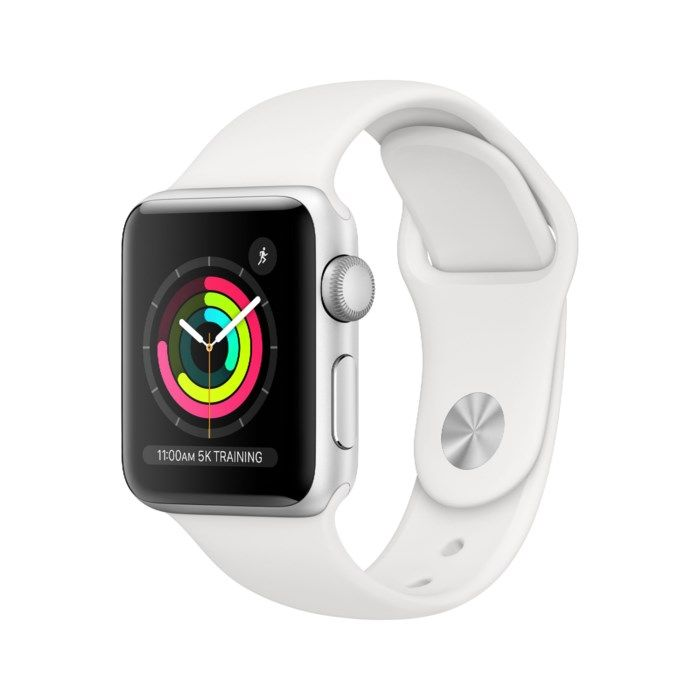 Apple Watch Series 3 (GPS) 38 mm Silver/Vit