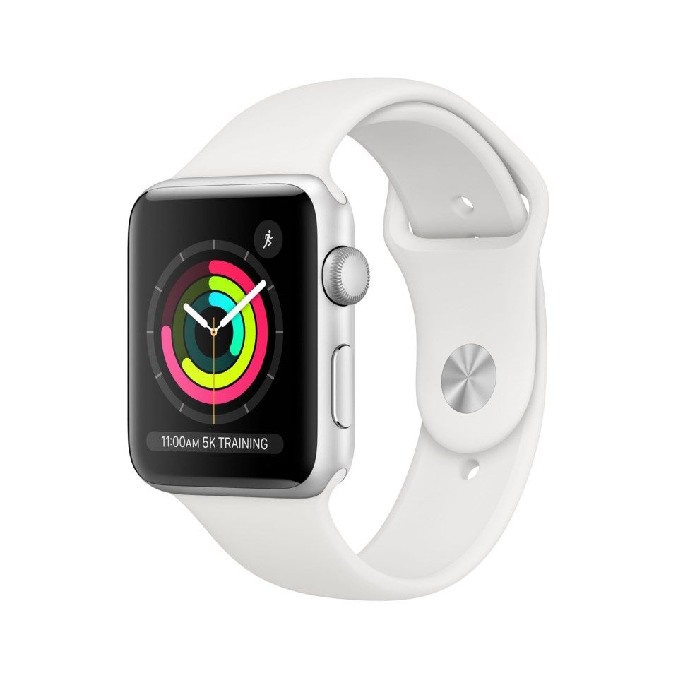 Apple Watch Series 3 (GPS) 42 mm Silver/Vit