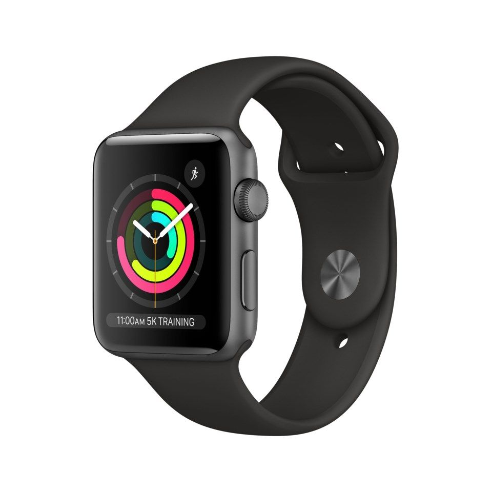 Apple Watch Series 3 (GPS) 42 mm Space grey/Svart