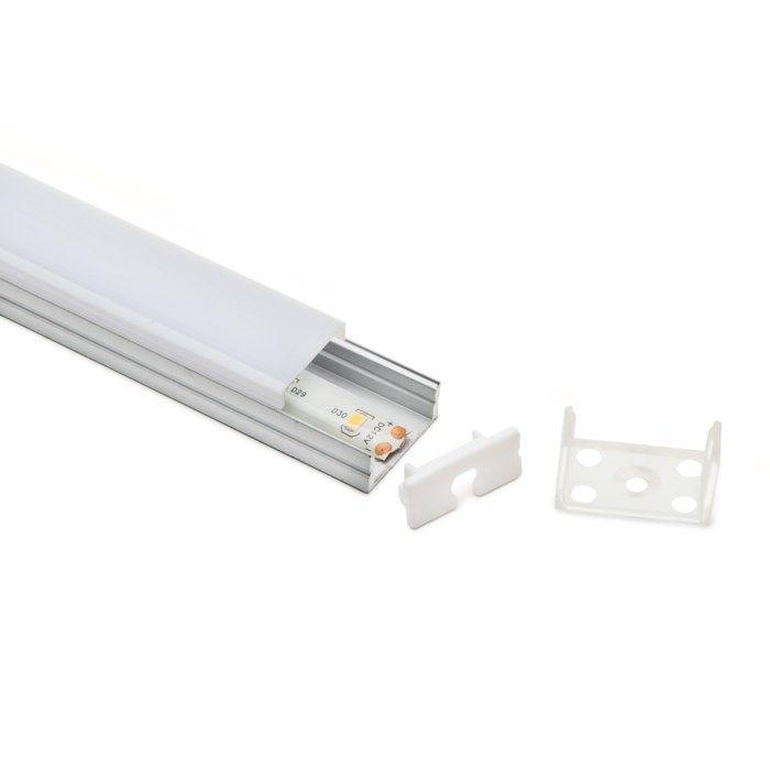 Luxorparts Aluminiumprofil utanpåliggande för LED-lister