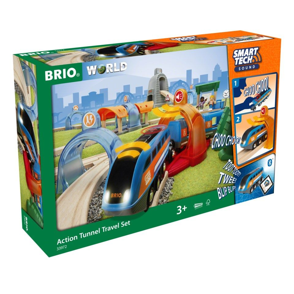 Brio Action Tunnel Travel Set Tågset