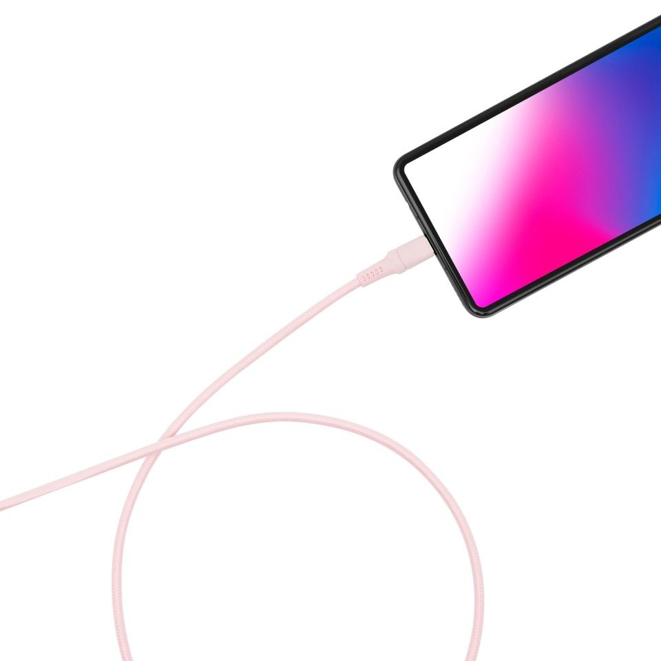 Linocell Colors USB-C-kabel 1,5 m Rosa