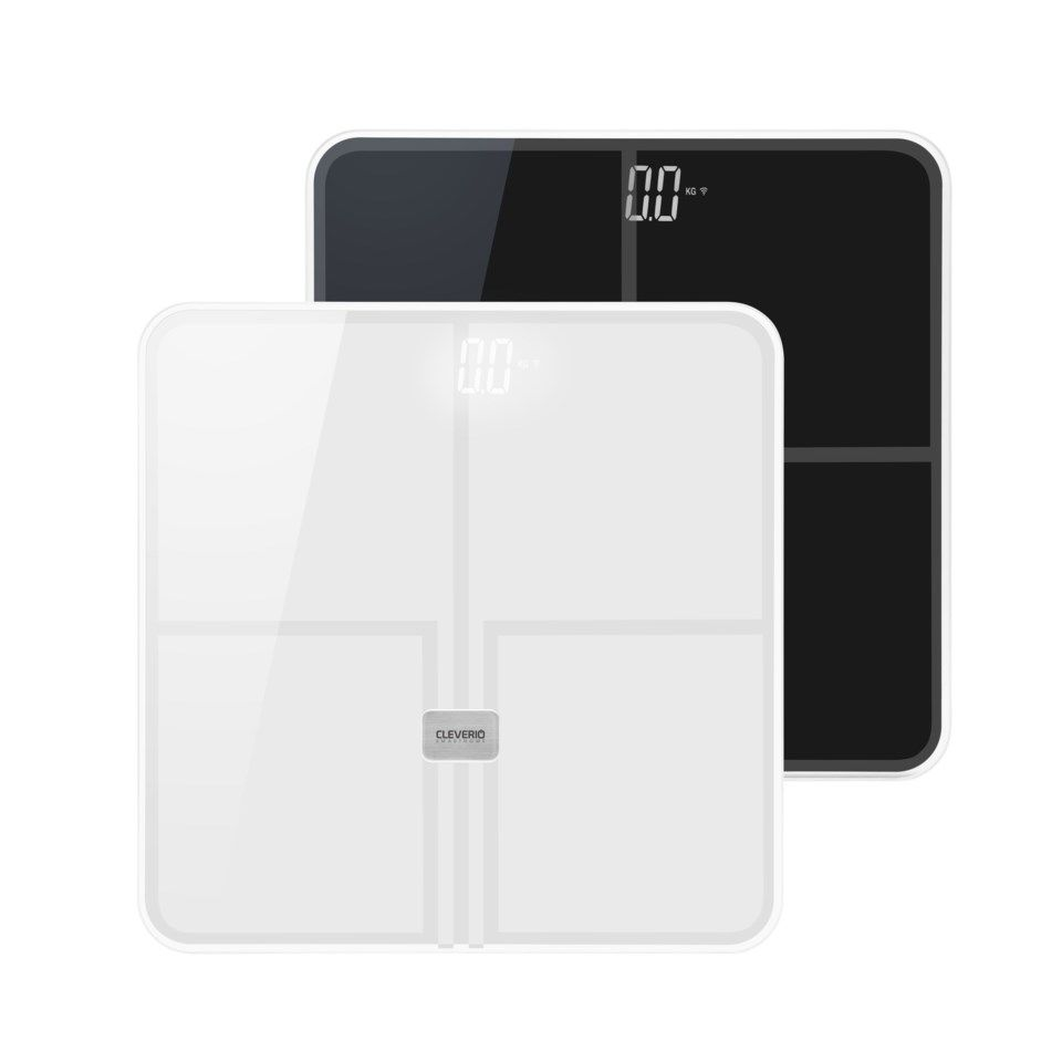 Cleverio Smart Scale Personvekt med wifi Svart