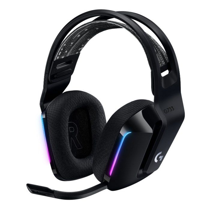 Logitech G 733 Lightspeed Trådlöst gaming-headset Svart
