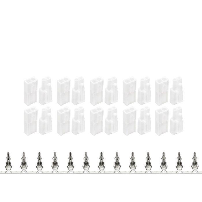 Luxorparts Kontaktset Mini Tamiya med krympslang 10 par