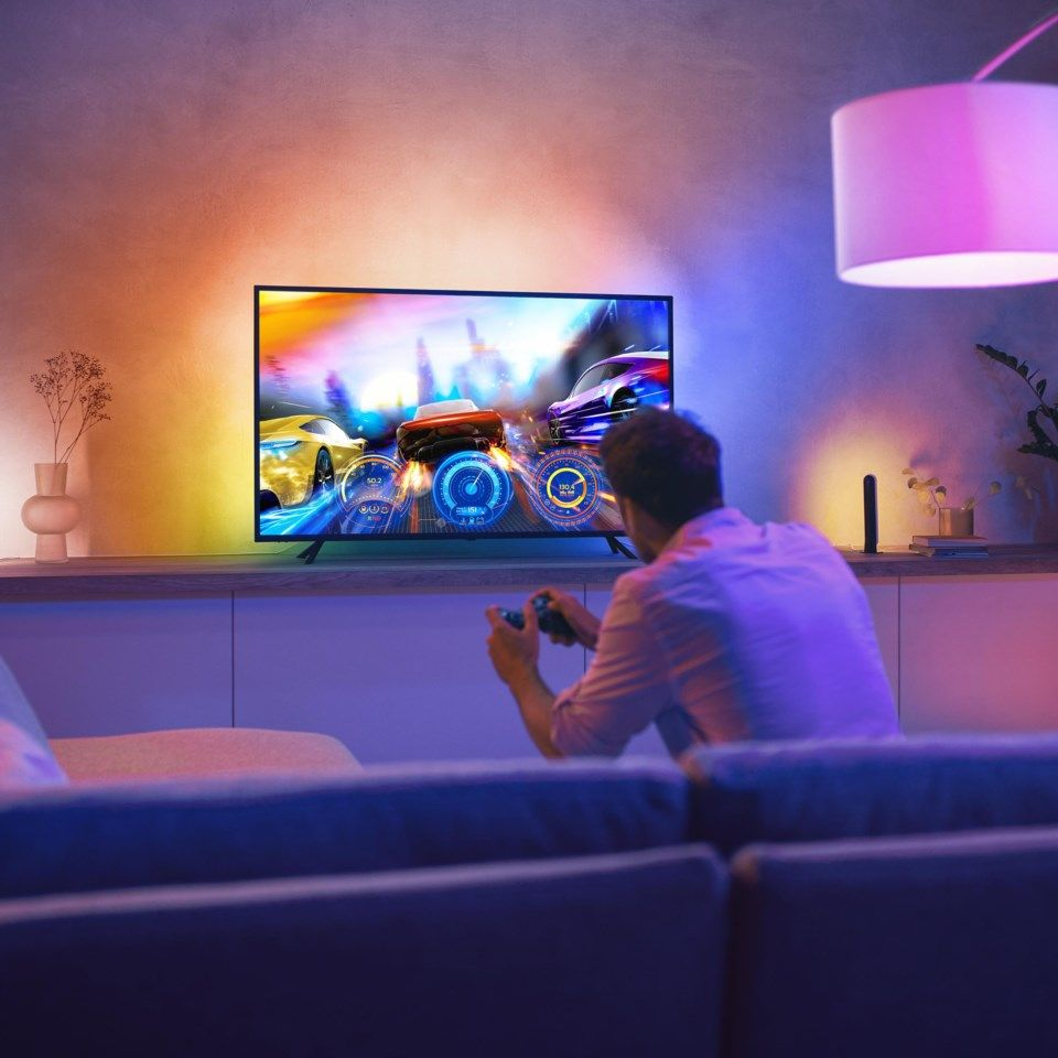 "Philips Hue Play Gradient TV Lightstrip Reaktiv LED-list Til 55-60""-TV"