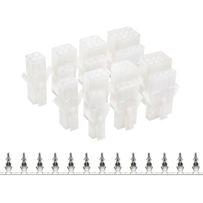 Luxorparts Sortimentslåda kontaktpar med snäpplås 12-pack