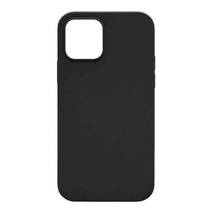 Linocell Rubber Case iPhone 12 och 12 Pro Svart