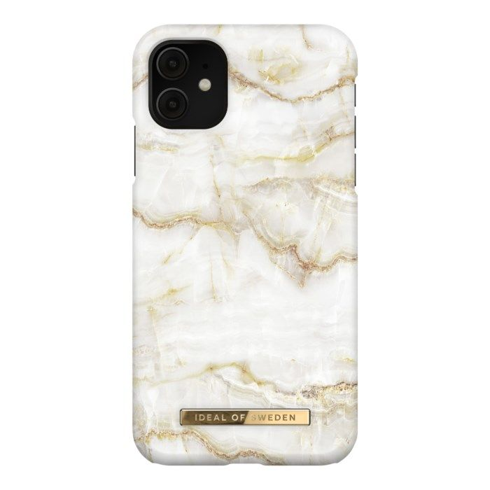 IDEAL OF SWEDEN Mobilskal för iPhone Xr och 11 Golden Pearl Marble