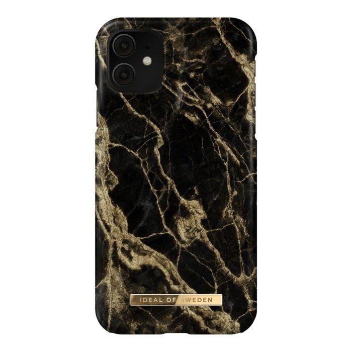 IDEAL OF SWEDEN Mobilskal för iPhone Xr och 11 Golden Smoke Marble