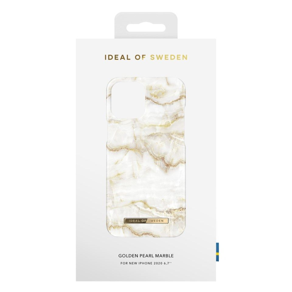 Ideal of Sweden Mobildeksel for iPhone 12 Pro Max Golden Pearl Marble