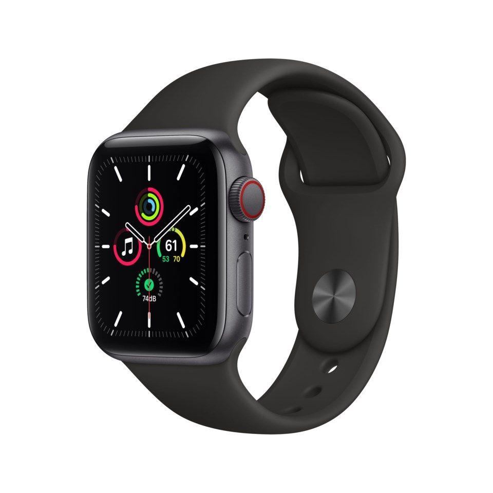 Apple Watch SE (GPS + Cellular) 40 mm Space Grey/Svart