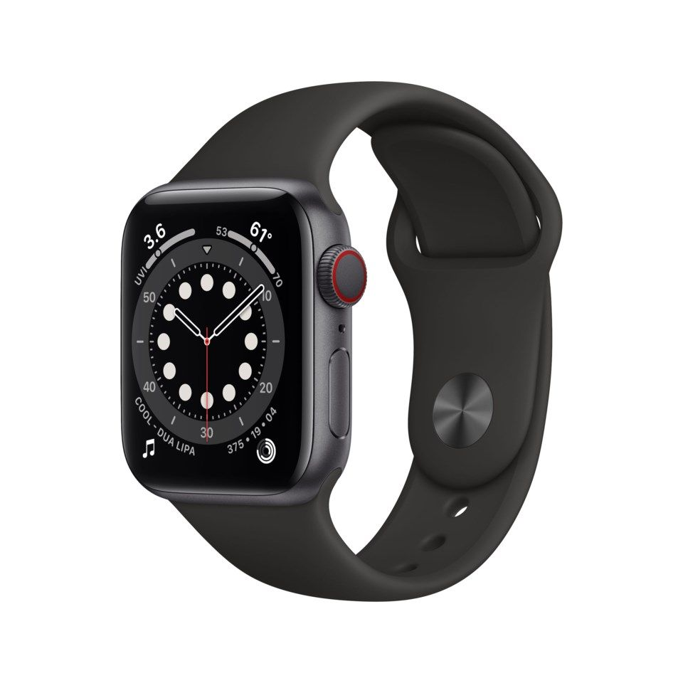 Apple Watch Series 6 (GPS + Cellular) 40 mm Space Grey/Svart