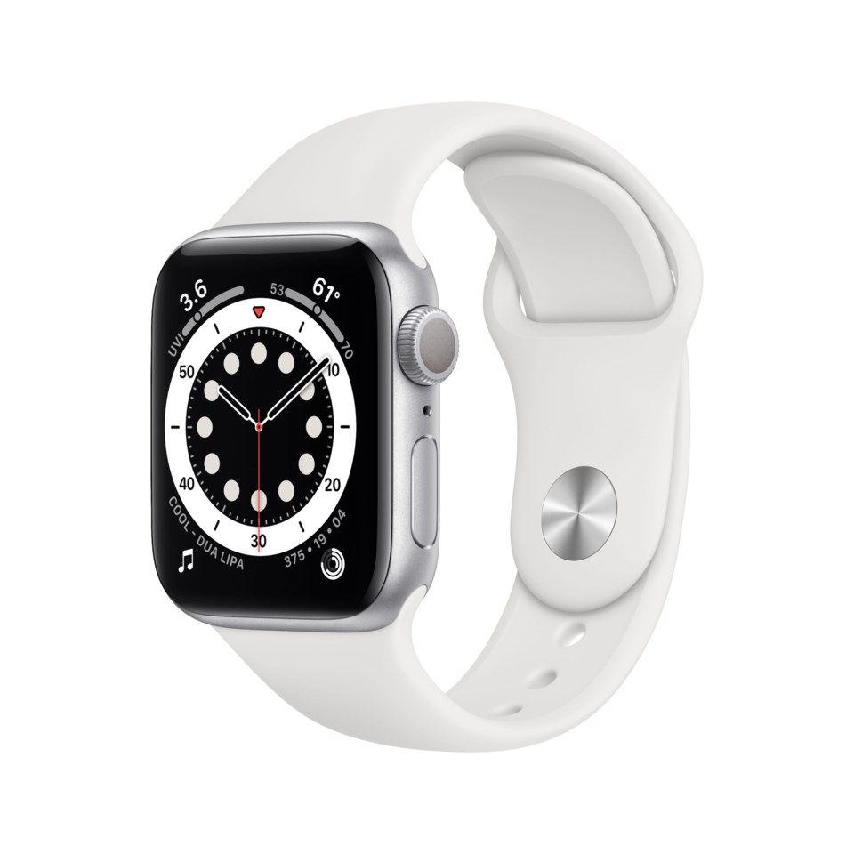 Apple Watch Series 6 (GPS) 40 mm Sølv/Hvit