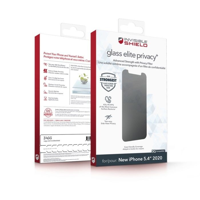 Invisible Shield Glass Elite Privacy Skärmskydd för iPhone 12 Mini