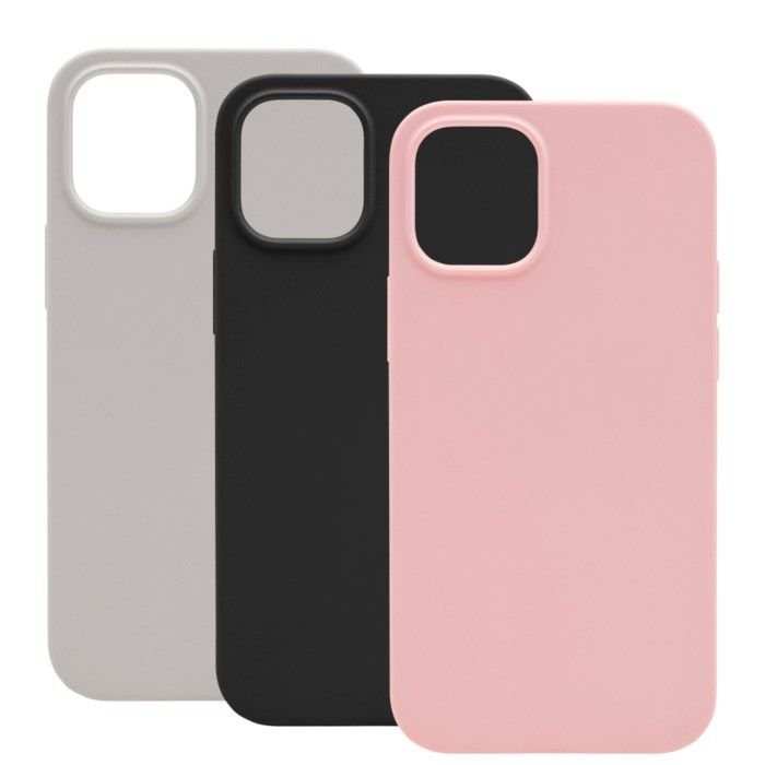 Linocell Rubber Case iPhone 12 Mini Svart Svart
