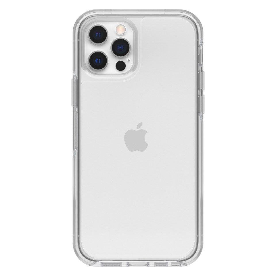 Otterbox Symmetry Robust deksel for iPhone 12 og 12 Pro Gjenomsiktlig