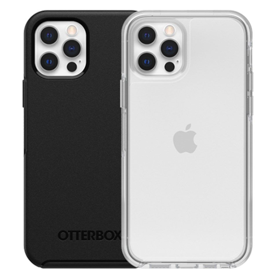 Otterbox Symmetry Robust deksel for iPhone 12 og 12 Pro Svart
