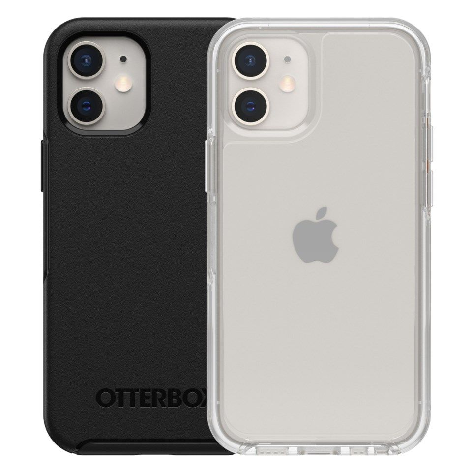 Otterbox Symmetry Robust deksel for iPhone 12 Mini Svart