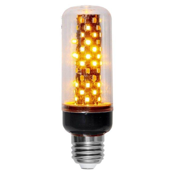 LED-lampa med flammande sken E27 105 lm