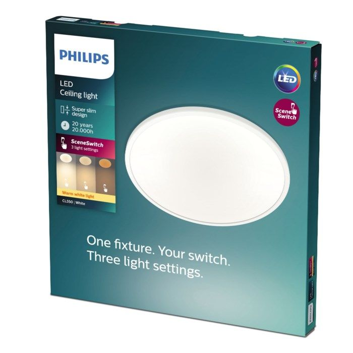 Philips Mauve Sceneswitch LED-plafond 1500 lm