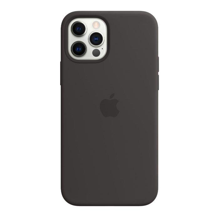 Apple Silikonskal med Magsafe till iPhone 12 och 12 Pro Svart