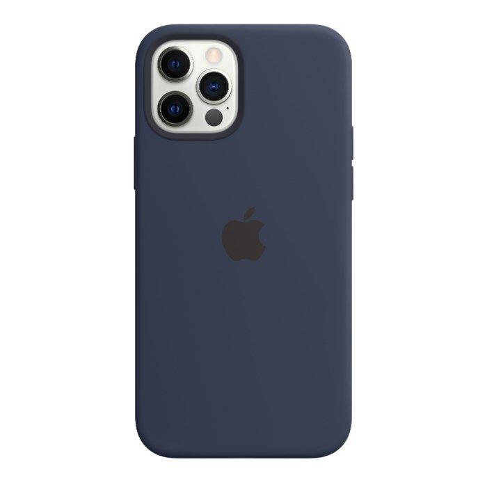 Apple Silikonskal med Magsafe till iPhone 12 och 12 Pro Blå