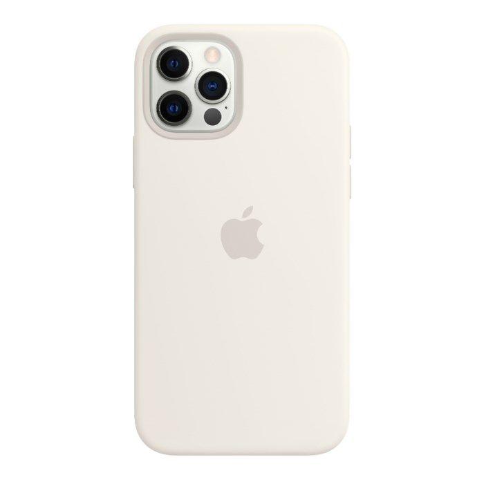 Apple Silikonskal med Magsafe till iPhone 12 och 12 Pro Vit