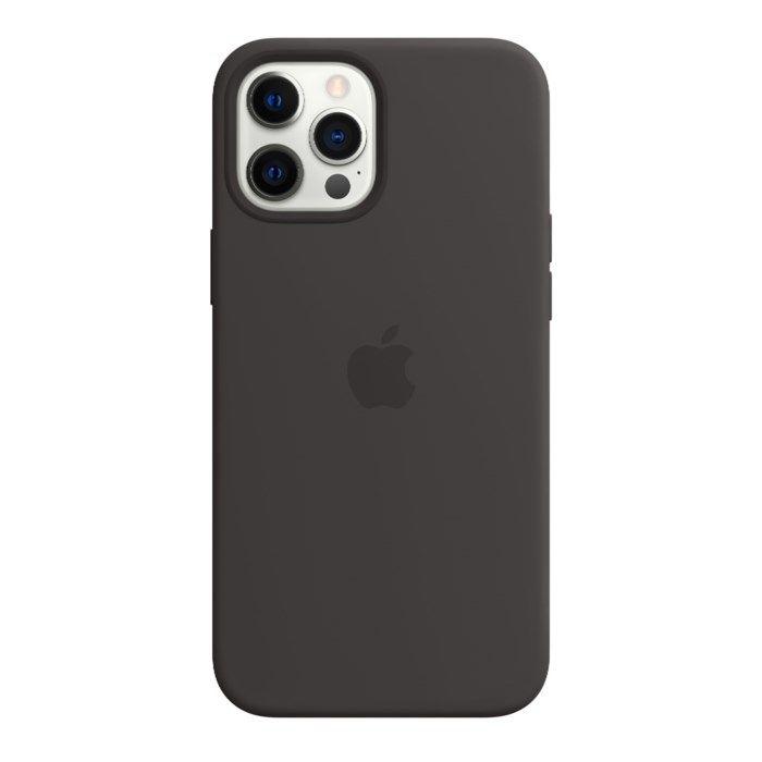 Apple Silikonskal med Magsafe till iPhone 12 Pro Max Svart