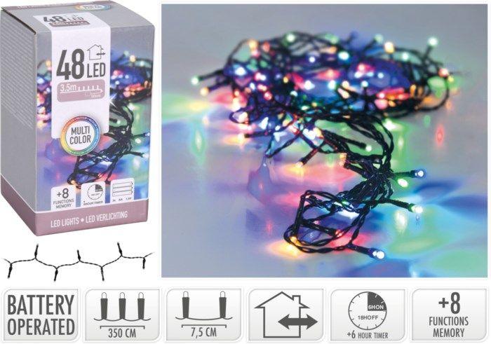 Batteridriven RGB dekorationsslinga 48 LED