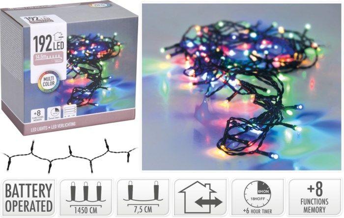 Batteridriven RGB dekorationsslinga 192 LED