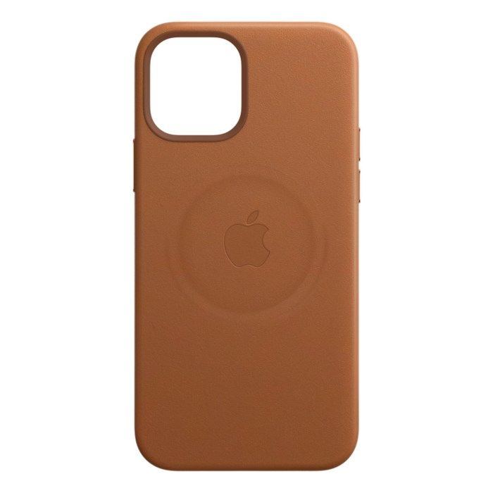 Apple Läderskal med Magsafe till iPhone 12 och 12 Pro Brun