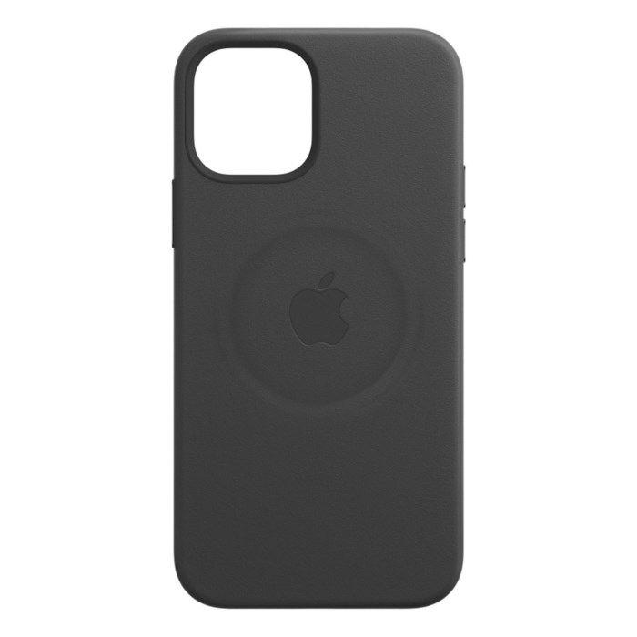 Apple Läderskal med Magsafe till iPhone 12 Pro Max Svart