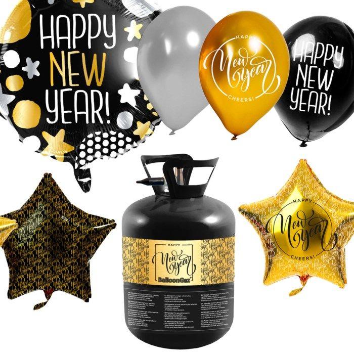 Heliumtank med nyårs-ballonger