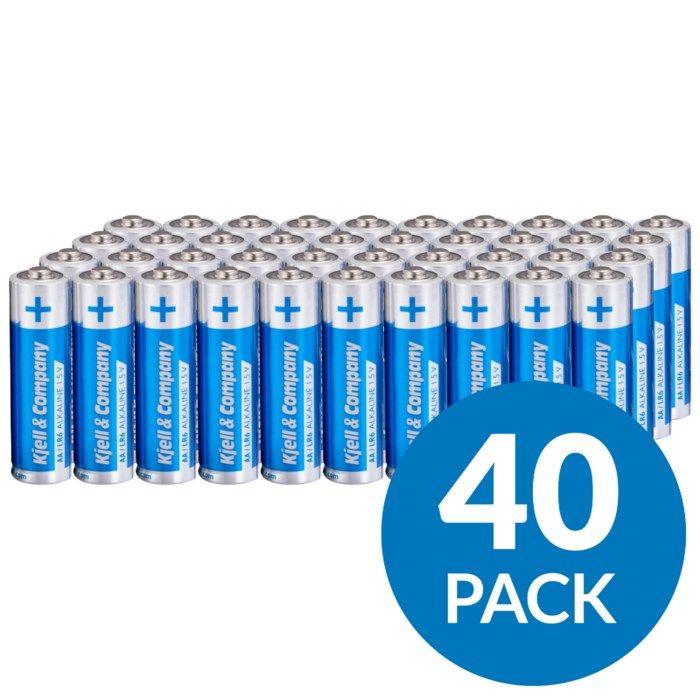 Kjell & Company AA-batterier (LR6) 40-pack