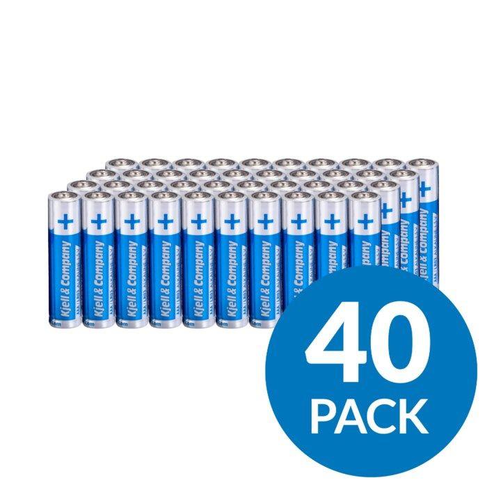 Kjell & Company AAA-batterier (LR03) 40-pack