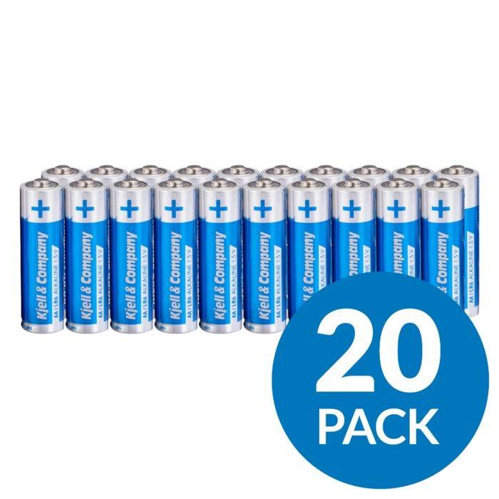 Kjell & Company AA-batterier (LR6) 20-pack
