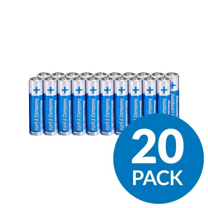 Kjell & Company AAA-batterier (LR03) 20-pack