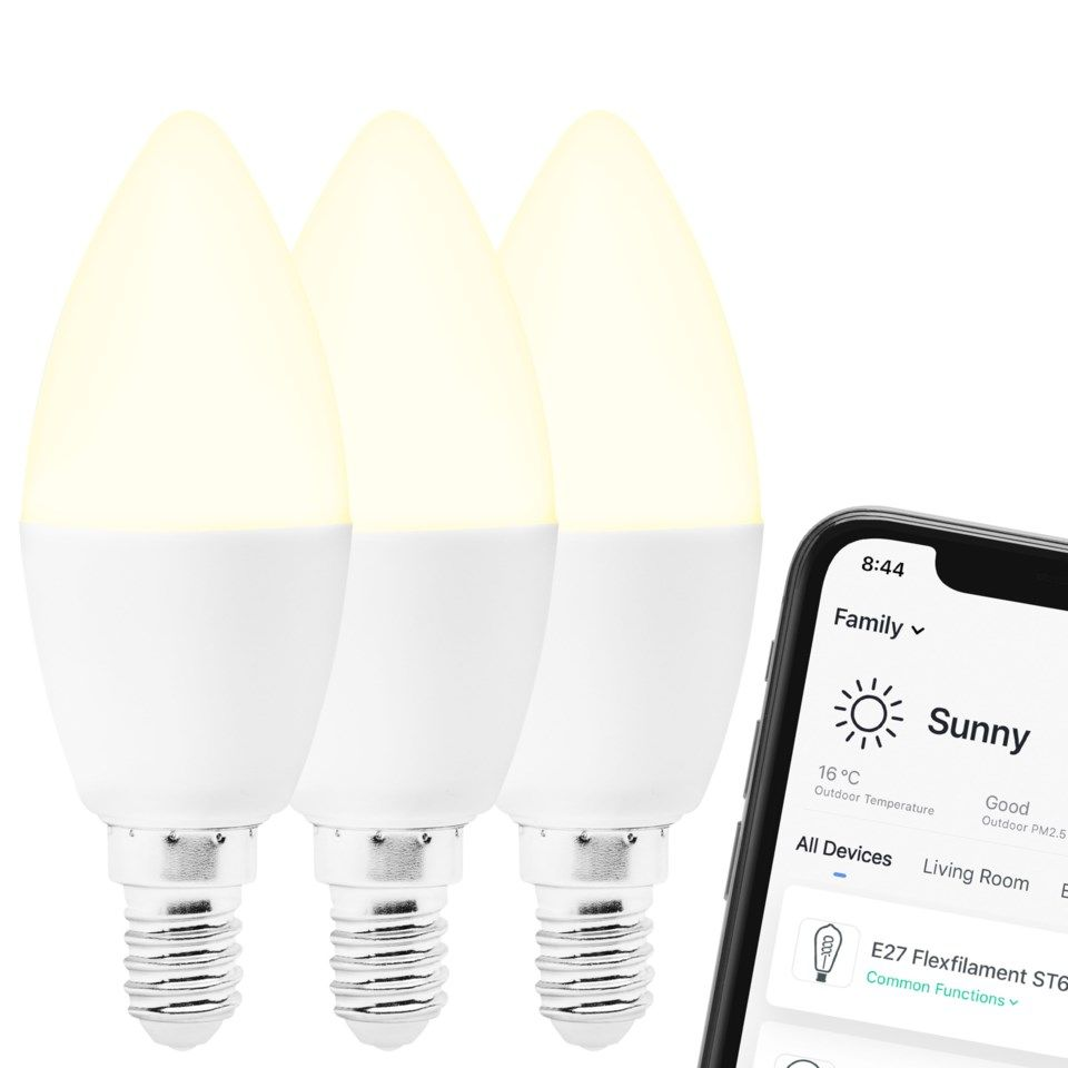 Cleverio Smart E14 LED-lampa 470 lm 3-pack