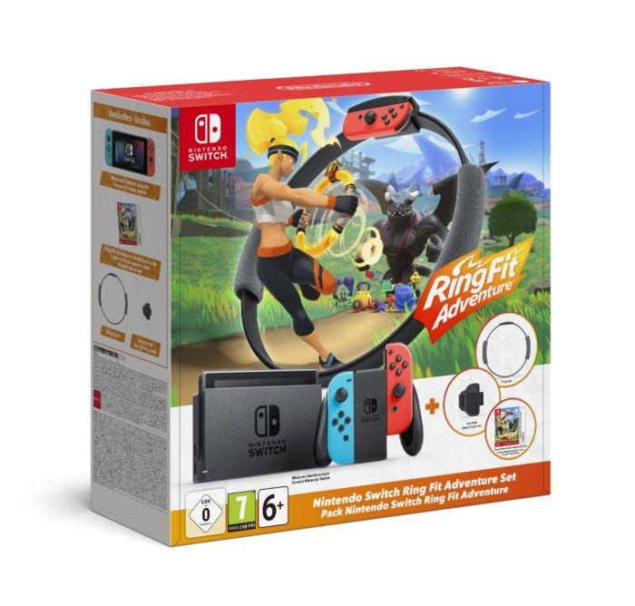 "Nintendo Switch (2019) Spelkonsol 6,2"" Ring Fit Bundle"