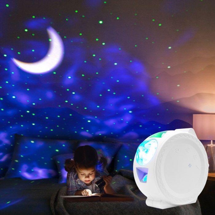 Ledsavers Nattlampa med stjärnhimmel