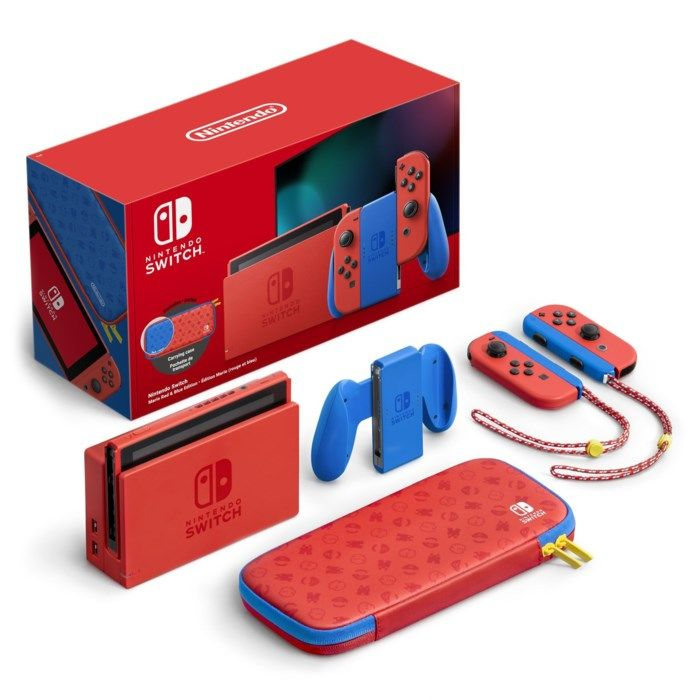 Nintendo Switch (2019) Mario Red & Blue Edition