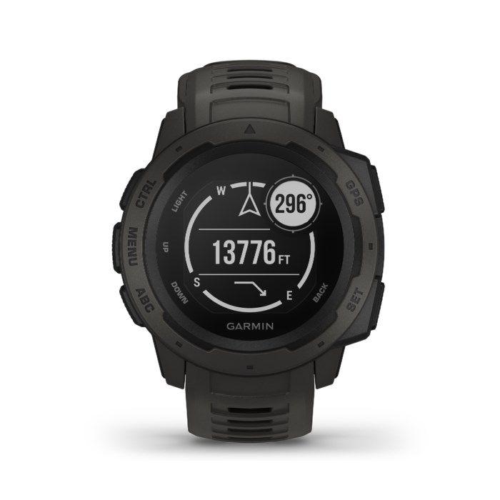 Garmin Instinct GPS-klocka med pulsmätning Graphite
