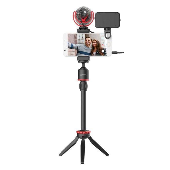 Boya Video-kit med mikrofon och belysning