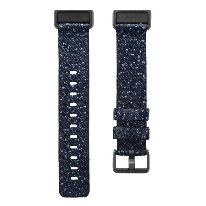 Fitbit Charge Vävt armband Midnight S