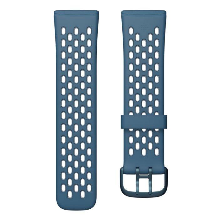 Fitbit Sense & Versa 3 Sportarmband Blå L