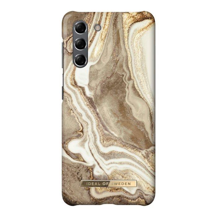 IDEAL OF SWEDEN Golden Sand Marble Mobilskal för Galaxy S21