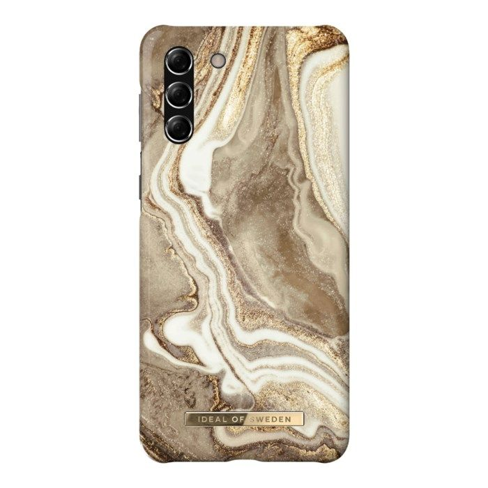 IDEAL OF SWEDEN Golden Sand Marble Mobilskal för Galaxy S21 Plus