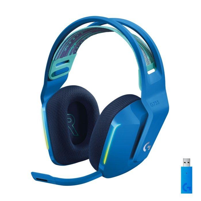 Logitech G 733 Lightspeed Trådlöst gaming-headset Blå